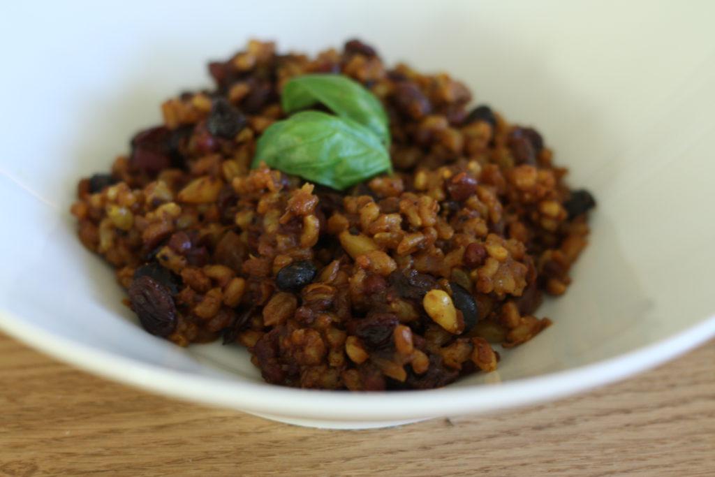 Pilaf s fazolemi adzuki