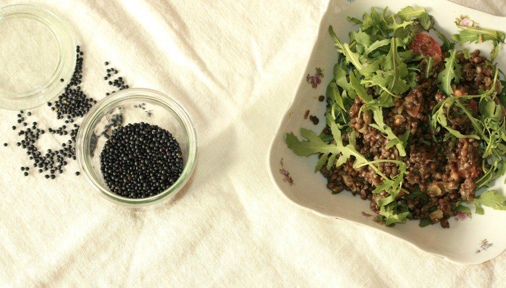 Čočkový salát s kapary